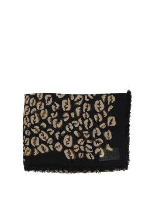 FENDI: sciarpe e foulard online - Sciarpa in modal e seta con stampa FF Splash