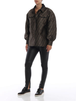 FENDI: camicie online - Camicia jacquard di misto seta e lurex