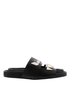 Fendi: sandals - Bag Bugs-inspired leather sandals