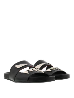 Fendi: sandals online - Bag Bugs-inspired leather sandals