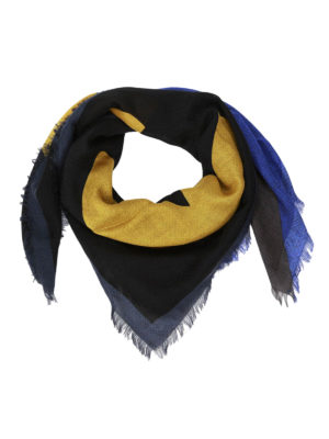 Fendi: scarves - Bag Bugs wool and silk scarf
