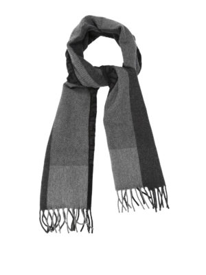 Fendi: scarves - FF logo wool and angora scarf
