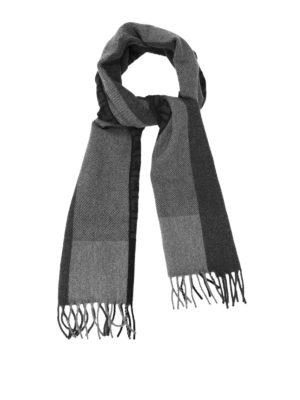 Fendi: scarves - FF logo wool and angora scarf