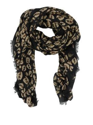 FENDI: sciarpe e foulard - Sciarpa in modal e seta con stampa FF Splash
