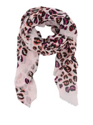 FENDI: sciarpe e foulard - Sciarpa modal e seta con stampa FF Splash