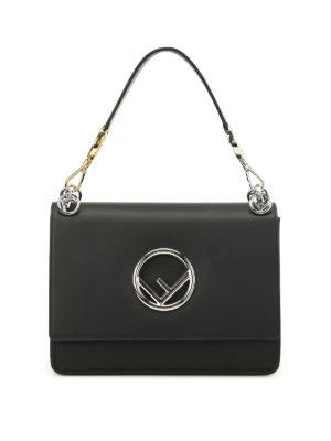 Fendi: shoulder bags - Kan black leather shoulder bag
