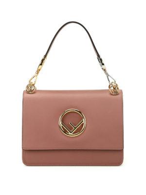 Fendi: shoulder bags - Kan pink leather shoulder bag