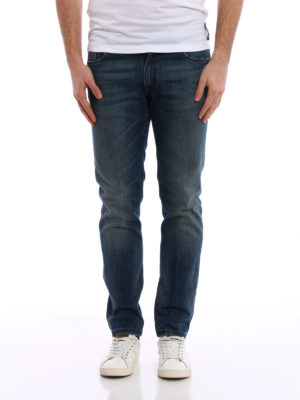 Fendi: skinny jeans online - Stone washed slim jeans