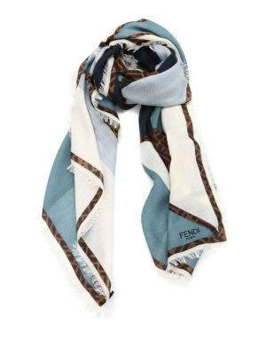 Fendi: Stoles & Shawls - Fendi Zucca logo shawl