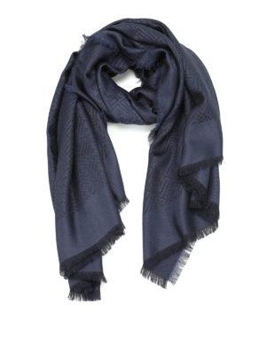 Fendi: Stoles & Shawls - FF print silk and wool shawl