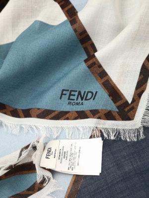 Fendi: Stoles & Shawls online - Fendi Zucca logo shawl