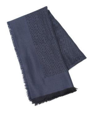 Fendi: Stoles & Shawls online - FF print silk and wool shawl