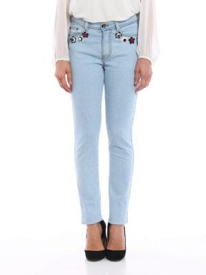 Fendi: straight leg jeans online - Flowerland flowers jeans