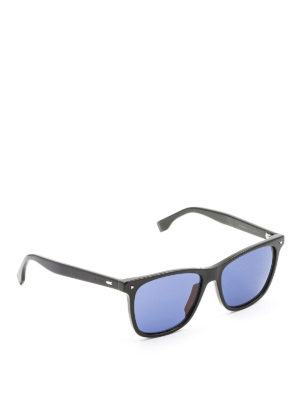 Fendi: sunglasses - Black sunglasses with blue lenses
