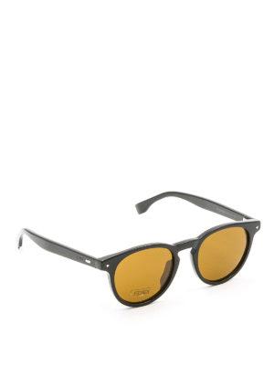 Fendi: sunglasses - Black sunglasses with yellow lenses