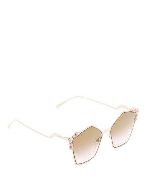 Fendi: sunglasses - Can Eye pink pearl sunglasses