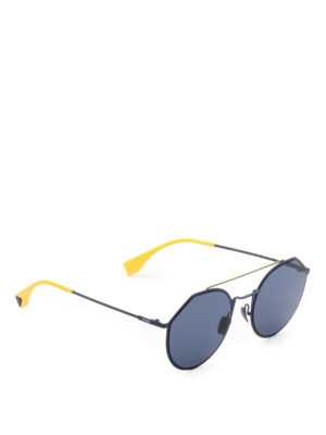 Fendi: sunglasses - Eyeline blue geometric sunglasses