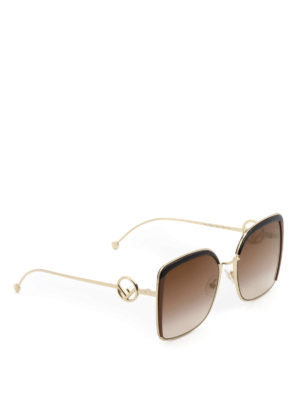 Fendi: sunglasses - F is Fendi square sunglasses