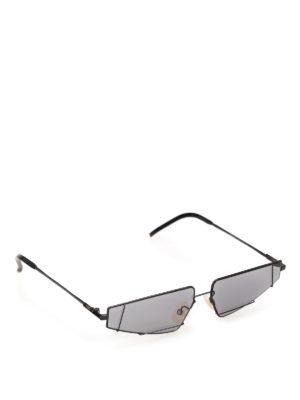 7fd22ab5364017 FENDI  occhiali da sole - Occhiali da sole geometrici in titanio nero