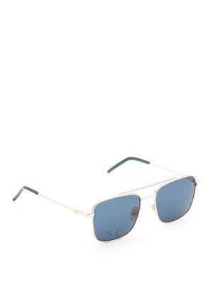 Fendi: sunglasses - Gold-tone metal square sunglasses