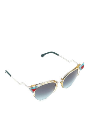 Fendi: sunglasses - Iridia geometrical sunglasses