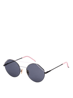 44f1d3370cb FENDI  occhiali da sole - Occhiali da sole tondi in titanio rosa
