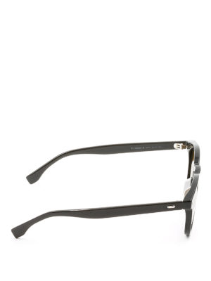 Fendi: sunglasses online - Black sunglasses with yellow lenses