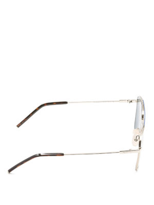 Fendi: sunglasses online - Fendi Air silver slim sunglasses