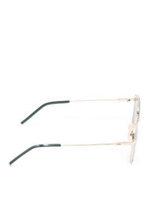 Fendi: sunglasses online - Gold-tone metal square sunglasses
