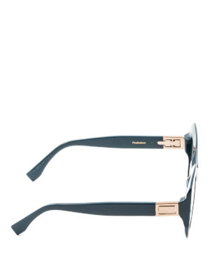 Fendi: sunglasses online - Peeakaboo acetate sunglasses