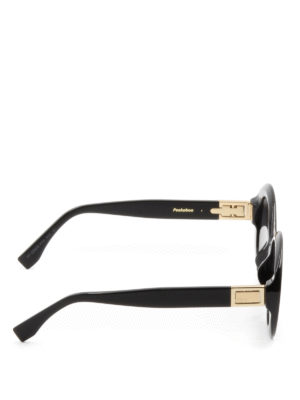 Fendi: sunglasses online - Peekaboo black oval sunglasses