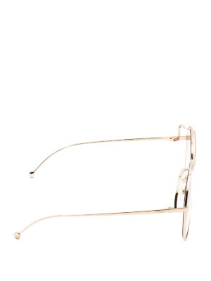 Fendi: sunglasses online - Run Away oversize metal sunglasses