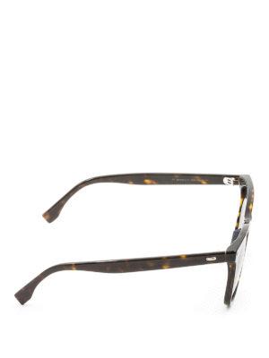 Fendi: sunglasses online - Tortoise square sunglasses