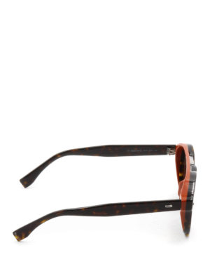 Fendi: sunglasses online - Two-tone double bridge sunglasses