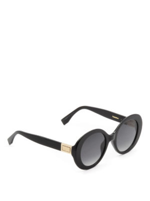 Fendi: sunglasses - Peekaboo black oval sunglasses