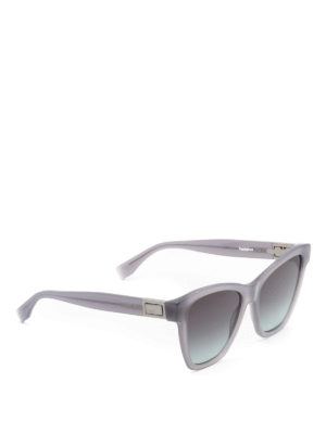 Fendi: sunglasses - Peekaboo grey acetate sunglasses