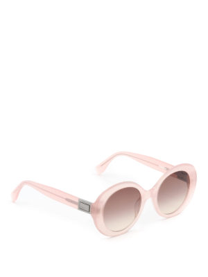 Fendi: sunglasses - Peekaboo oval acetate sunglasses