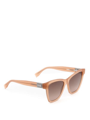 Fendi: sunglasses - Peekaboo pink acetate sunglasses