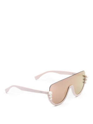 Fendi: sunglasses - Ribbons and Pearls pink sunglasses