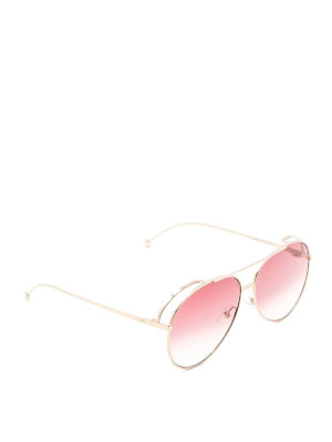Fendi: sunglasses - Run Away oversize metal sunglasses