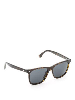 Fendi: sunglasses - Tortoise square sunglasses