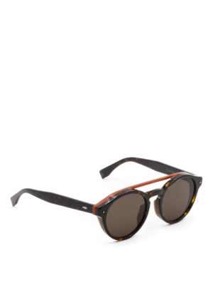 Fendi: sunglasses - Two-tone double bridge sunglasses