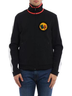 Fendi: Sweatshirts & Sweaters online - Paintword zipped sweatshirt