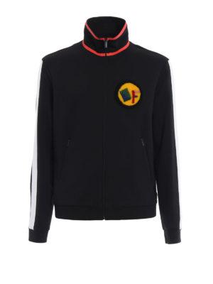 Fendi: Sweatshirts & Sweaters - Paintword zipped sweatshirt