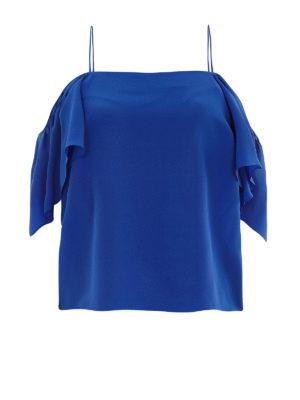 Fendi: Tops & Tank tops - Off the shoulder flounced silk top