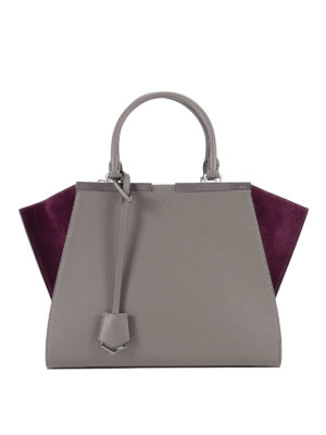 Fendi: totes bags - 3 Jours leather and suede tote
