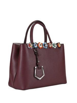 Fendi: totes bags online - 2 Jours Flowerland detail small bag
