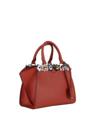 Fendi: totes bags online - 3 Jours Flowerland stud mini tote