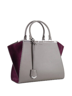 Fendi: totes bags online - 3 Jours leather and suede tote