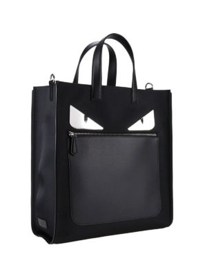 Fendi: totes bags online - Bag Bugs leather and nylon tote